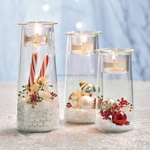Glass jar fish tank tall glass candle holders votive candle holder