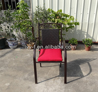 terrace outdoor aluminum chair rattan seating/outdoor furniture chair cast aluminum/outdoor rattan chair stacking