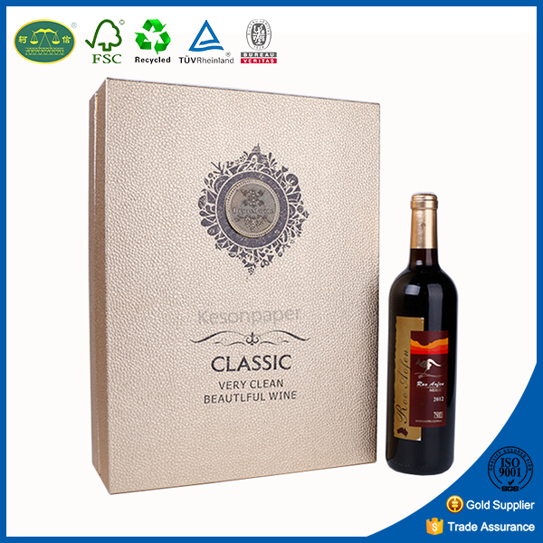 Packaging box for 2 wine bottles wine box gift