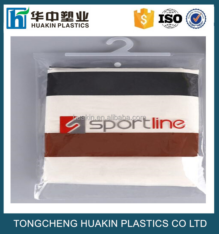 transparent PVC hanger bags with hook for clothes packing