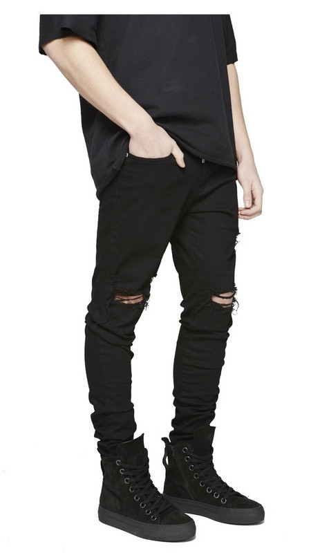 Mens Jeans classic ripped pants men Denim destroyed male Jeans biker jean hiphop comfortable stretch trousers all in stock