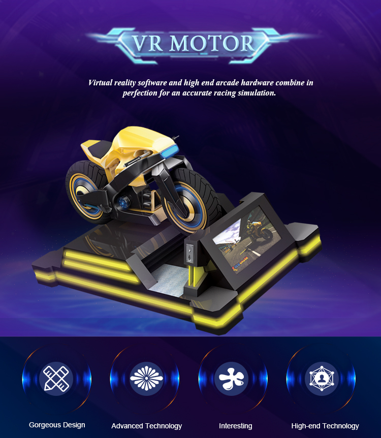 Racing driving game machine virtual reality motorcycle racing simulator