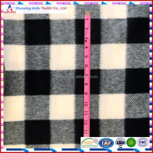100% polyester check printed polar fleece fabrics 60 Inch 300gsm Buffalo Plaid Black and White Check