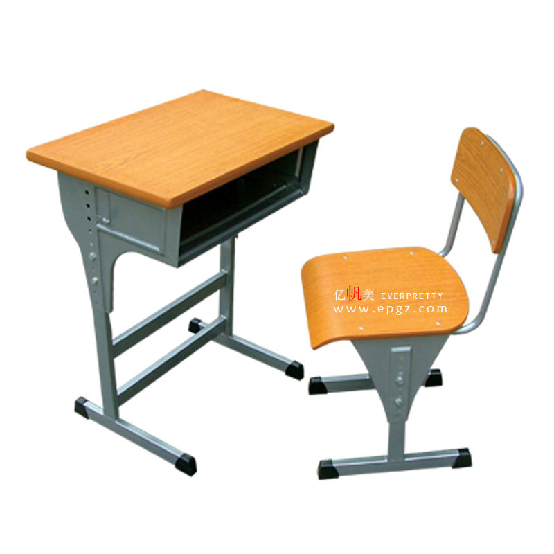 Height Adjustable Single Student Desks And Chairs for School Classroom