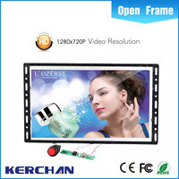 Battery operated Kerchan flexible 7 lcd open frame pos tv screen