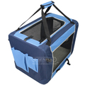 Pet soft crate foldable pet cage and carrier