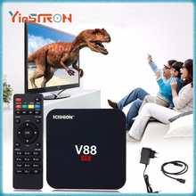 Cheapest V88 4K Android 6.0 Smart TV Box Rockchip RK3229 1G/8G WiFi Full Loaded Kodi 16.1 SCISHION V88 TV Box