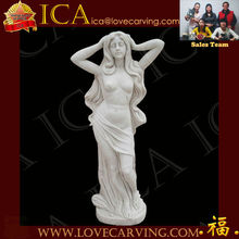 life size white marble lady statues