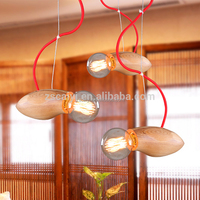 Christmas ceramic lofe loft edison vintage golden pendant lamp with six fabric shade flower hanging lamp