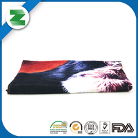 Customized logo printed promotional 100% cotton bath towel