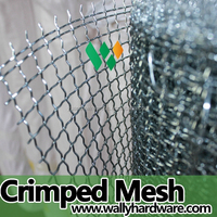 25mm hole plain woven ss 304 stainless steel crimped wire mesh/cloth/net
