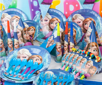 frozen theme birthday paper tableware party supplies