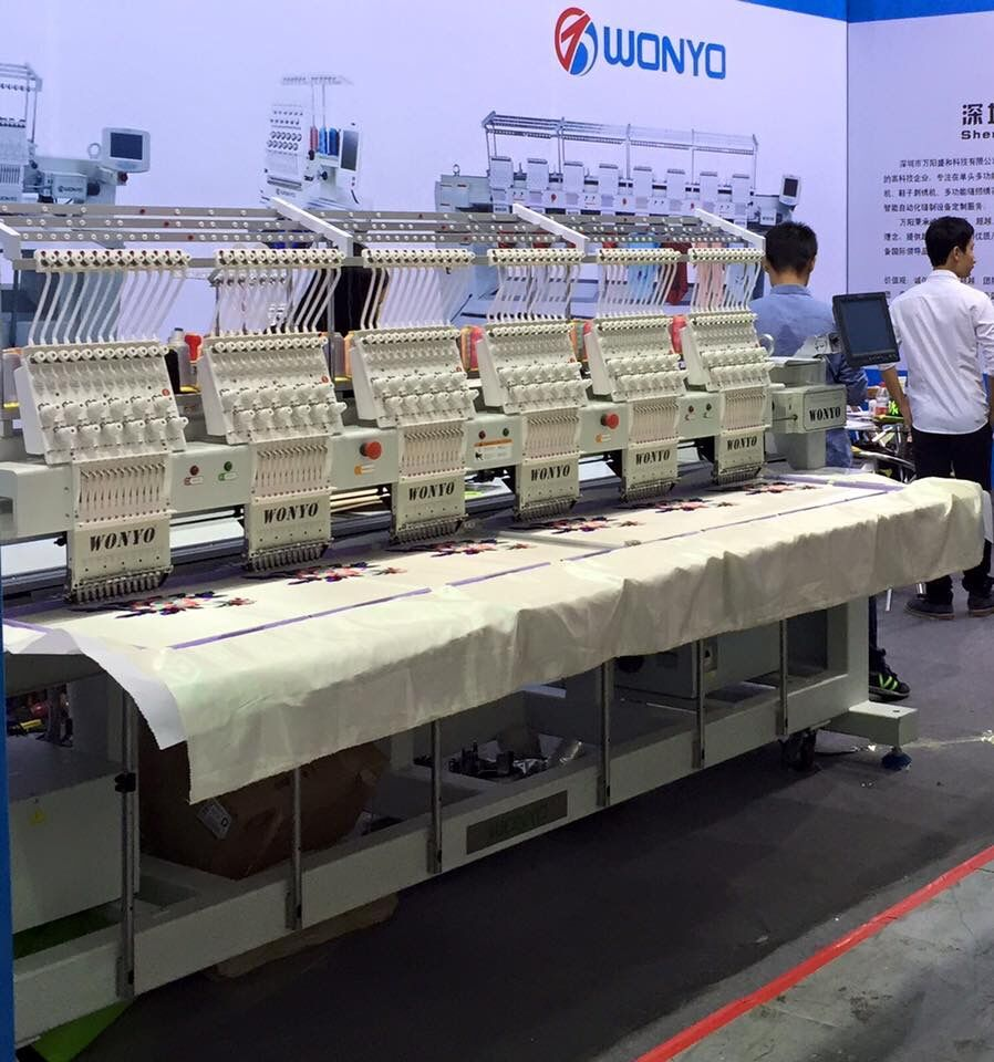 happy embroidery machine sale 12 needles 6 head Wonyo embroidery machine WY1206C made in China in good quality