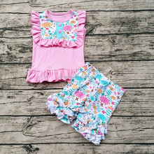 Latest Girl Boutique Baby Outfits With High Quality Plus Size Wholesale Children Clothing OEM