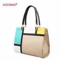 VICCIRAIA Fashion PU Colorful Women Handbag Multicolor Lady Bags Small Wholesale