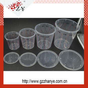 Environmental Plastic Car Paint Mixing Cup