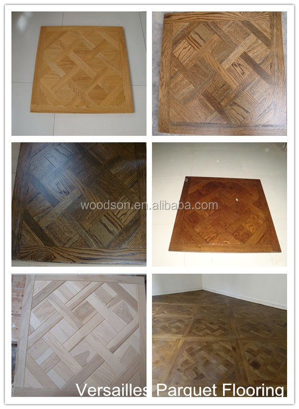 Oiled Commercial White Oak Solid Wood Parquet Flooring