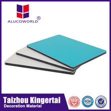 Alucoworld 3mm 4mm plastic panels for walls stainless steel kitchen panels ACP sheet