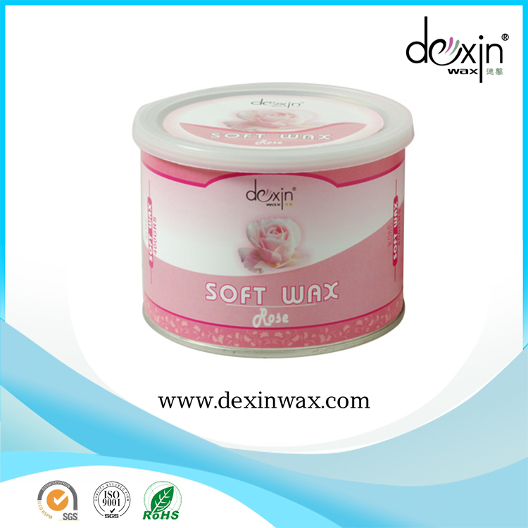 China Manufacturer Hot Sale 400ml Super Depilatory Natural Rose Wax