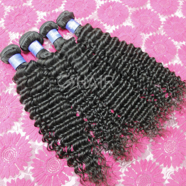 Unprocessed hot sell tangle free black star hair weave
