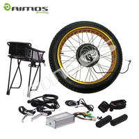White Fat tire Rim ! 48V 1500W Brushless Gearless Motor 26inch Rear Wheel Electric Bike / Bicycle Conversion Kit