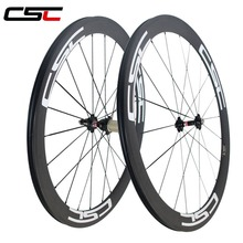 700C CSC Carbon Wheel 25mm Width U Shape 50mm Tubeless Carbon Fiber Bicycle Wheelset