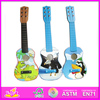 2016 new fashion wooden electric guitar, popular wooden kids guitar,hot sale baby wooden toy guitar W07H013