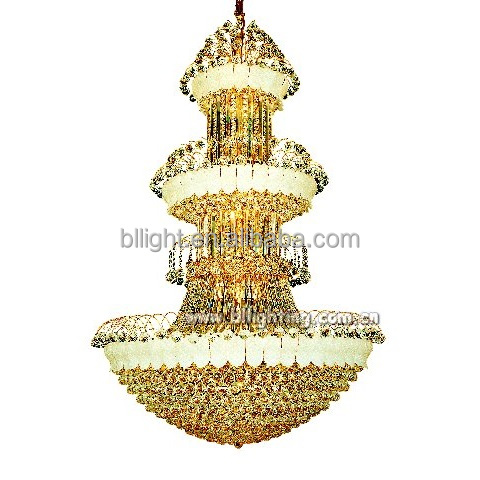 Gold finish project chain chandelier pendant lamp