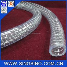 transparent flexible pvc stainless steel wire hdpe pipe