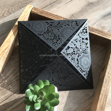 Lowest Price Unique Design Laser Cut Tombstone Unveiling Invitation Cards with Flower