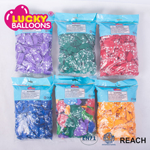 LuckyBalloons shiny mix colors printed latex balloons