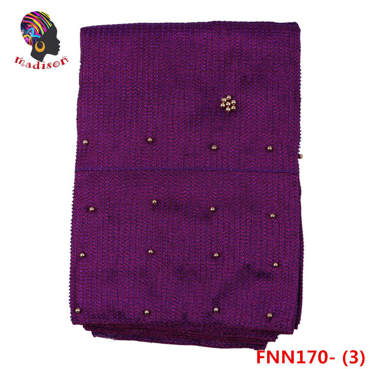 FNN170-3 African handmade fashion wholesale nigeria african beads sego headtie
