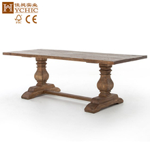 french style solid oak wood dining table/dining room furniture