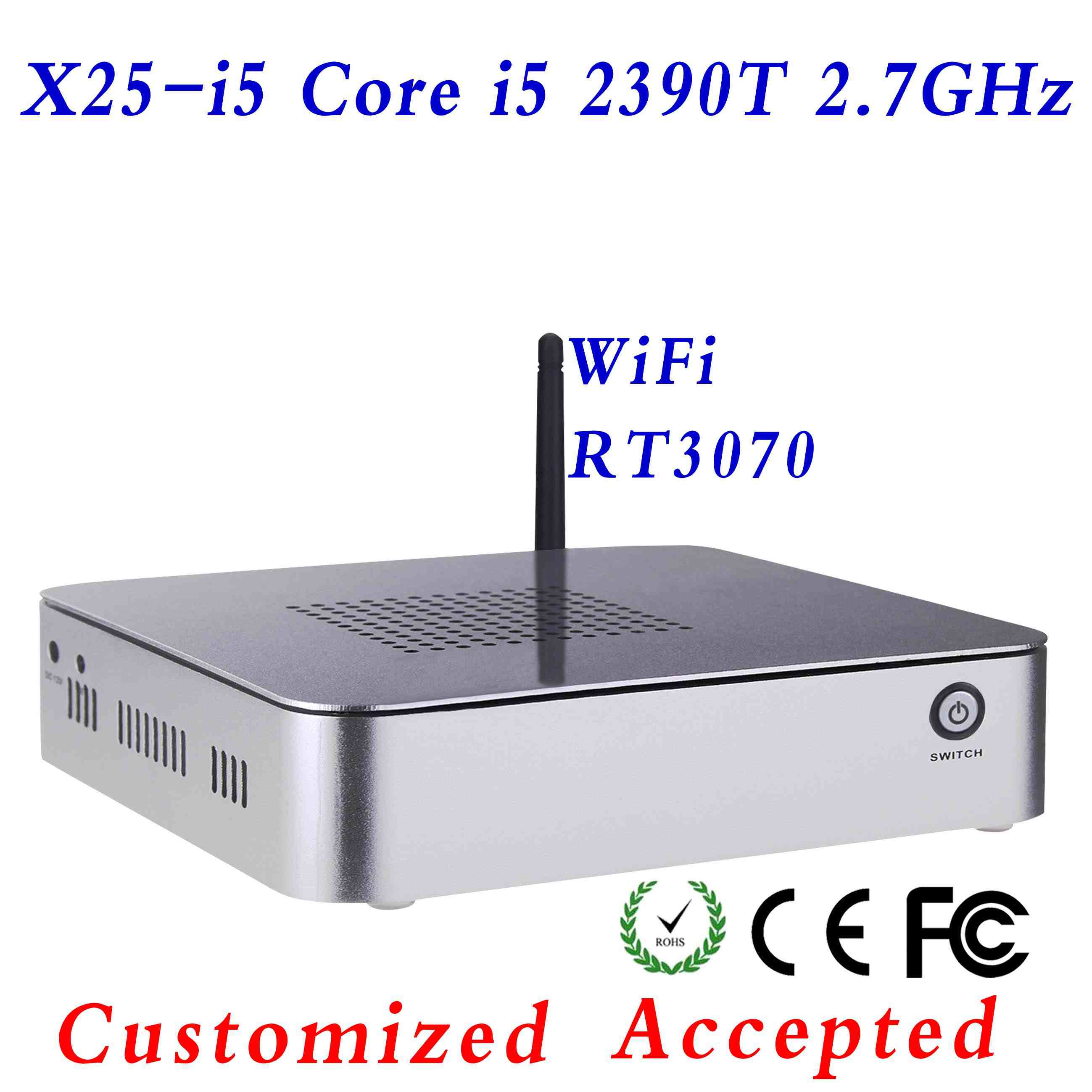 minipc small size pc games linux micro pc x25-i5 3570T support wireless keyboard, mouse and touch screen