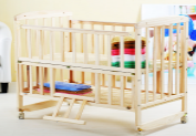 wooden baby bed with the good quality