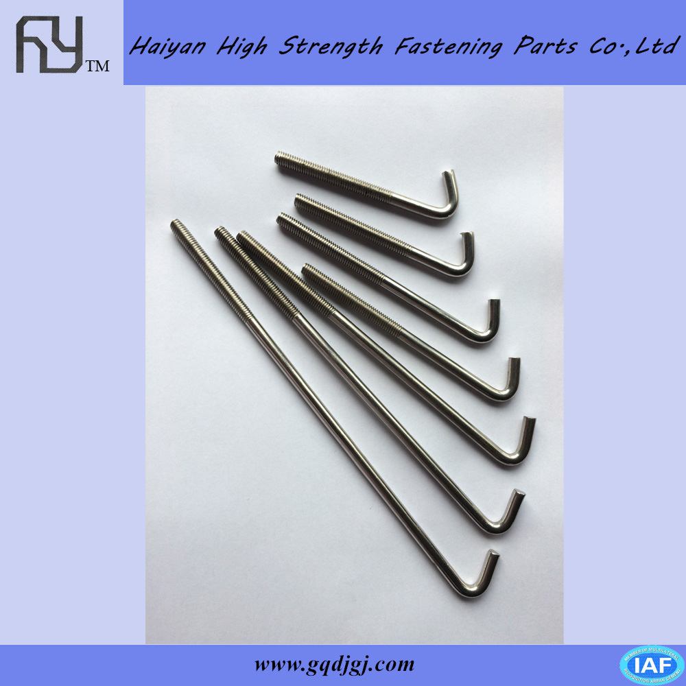 High Quality stainless steel L type and J type Anchor Bolt