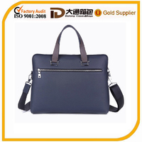 Fashion leather shoulder business man bag
