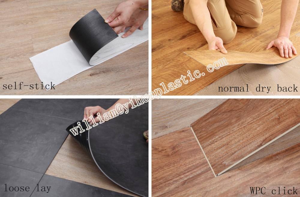 PVC 클릭 바닥 판자 (대리석 PVC 바닥), 비닐 바닥 타일, 플라스틱 ...