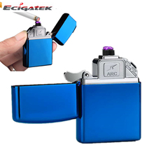 wholesale smoking accessories europe usb rechargeable electric arc cigarette lighter, cheap custom log plasma flameless lighters