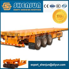 Container chassis 40ft tri-axle flatbed trailer
