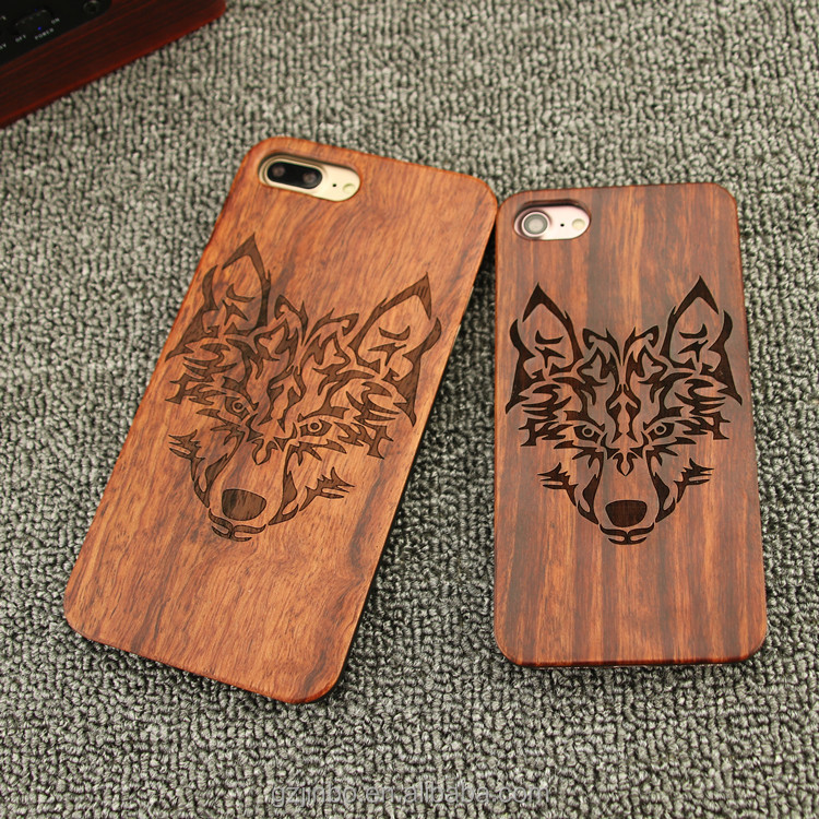 Real Wood Personalized Wooden Cell Phone Case For Iphone 6 6 plus , engraving case bamboo for iPhone 6 phone accessories mobile