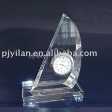 promotional crystal table clock crystal trophy clock