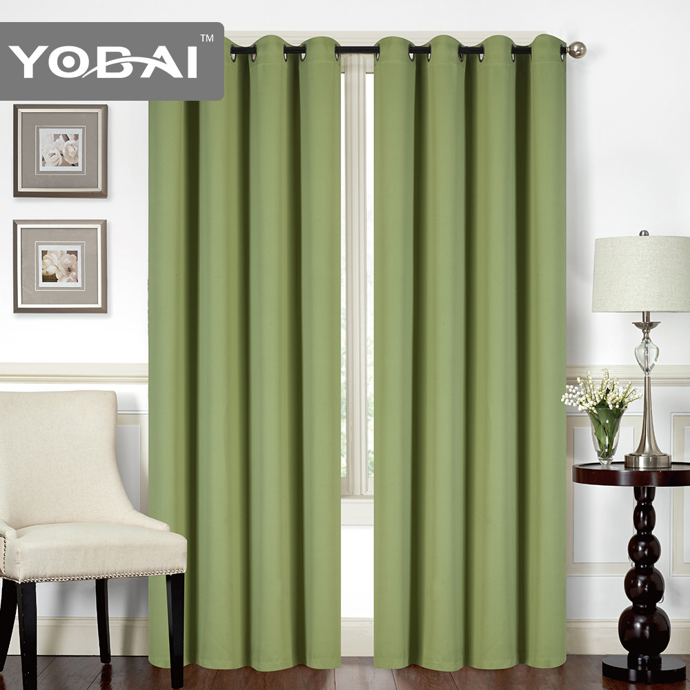For Hotel and Office 100 Polyester Blackout Curtain