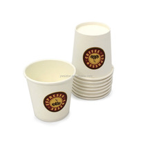 Disposable Espresso Paper Coffee Mugs 4 OZ Paper Cup