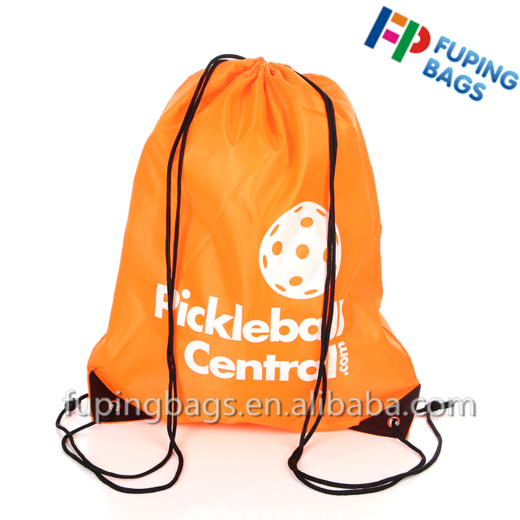 cheap wholesale 190T 210D or customize nylon polyester ball drawstring backpack bag