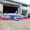 Decorative 8 meters long giant inflatable shark for sale