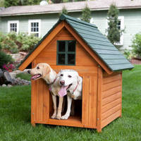 outdoor wooden dog kennel house