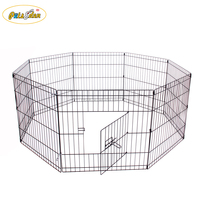 Pet Playpen Dog Rabbit Puppy Play Pen Cage Folding Run Fence Crate