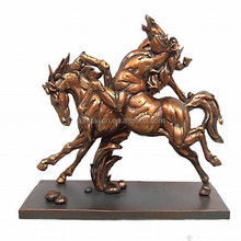 High Quality Plated Resin Horse Sculptures / Resin Elephants Animals Statues For Home / Office Decoration SD190117