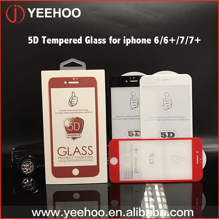 Secondary Reinforcement Full Cover 5D Tempered Glass Screen Protector For iPhone 7/7plus